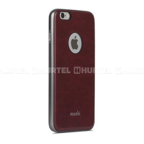 Etui Moshi iGlaze napa iPhone 6 Plus / 6s Plus, burgundy red, kolor czerwony