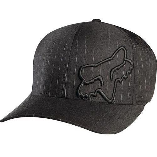 Fox Czapka z daszkiem - flex 45 flexfit hat black pinstripe (515) rozmiar: xs/s