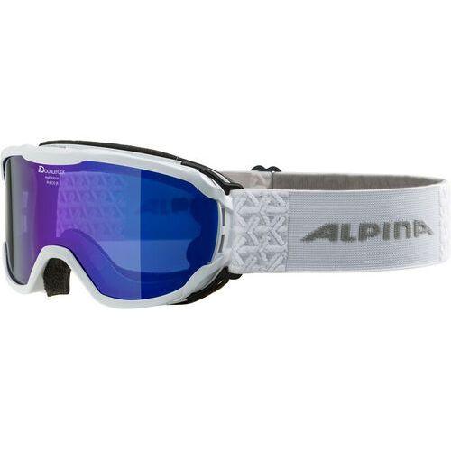 gogle narciarskie pheos jr mm biały/wielobarwny marki Alpina