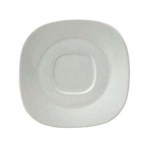 Spodek kwadratowy porcelanowy KUBIKO/FALA