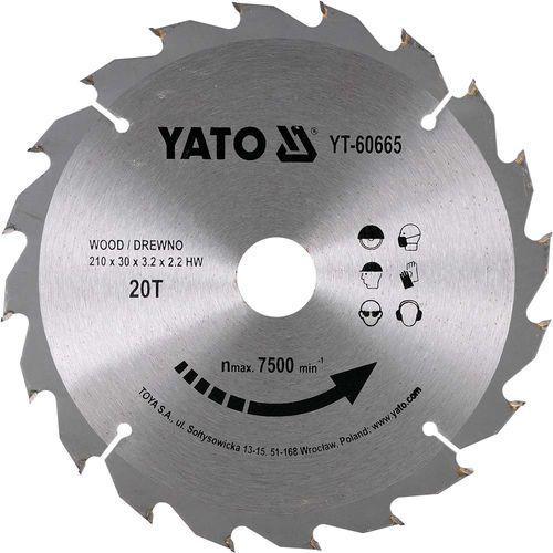 Yato Tarcza widiowa do drewna 210x20tx30mm yt-60665 - zyskaj rabat 30 zł