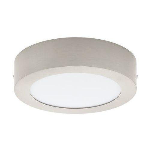 Plafon lampa sufitowa ścienna Eglo Fueva 1 1x12W LED nikiel mat / biały 32441 (9002759324414)