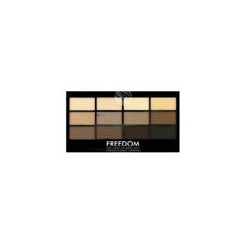 Freedom Pro Eyeshadow Palette (W) paleta 12 cieni do powiek Audacious Mattes 12g