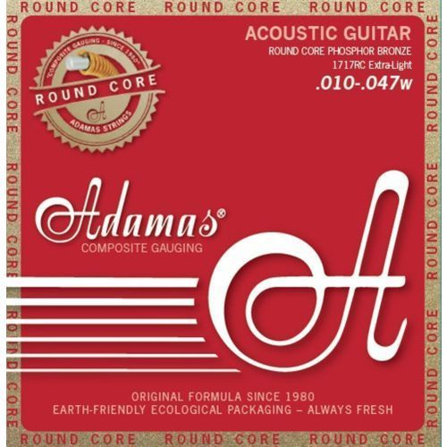 Adamas (664601) phosphor bronze historic reissue round core, struny do gitary akustycznej - extra light.010-.047