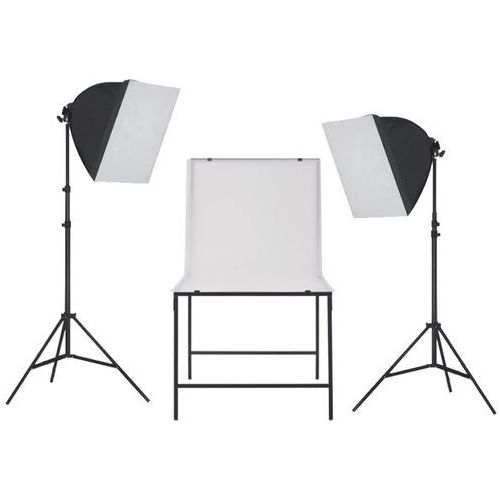 Vidaxl zestaw oświetleniowy softbox do studia ze stołem fotograficznym (8718475569893)