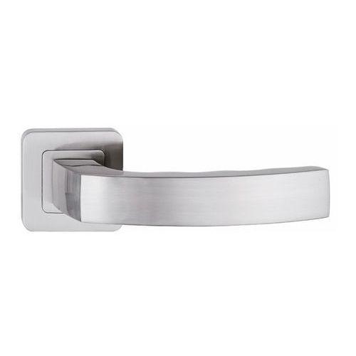Metalbud Klamka drzwiowa mondo kwadratowy szyld nikiel satyna (5907354086771)