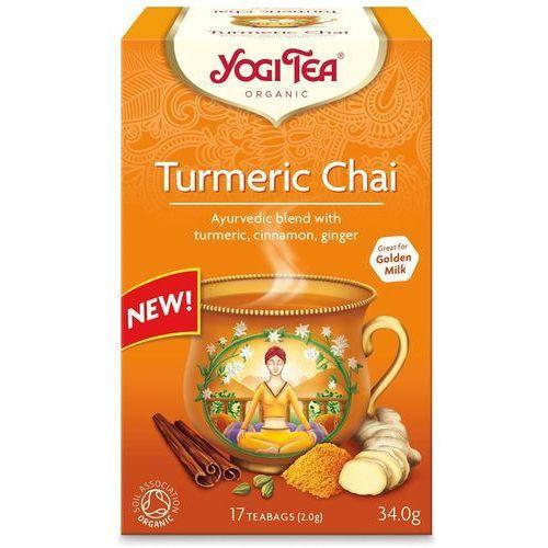 Herbatka ZŁOTY CHAI Z KURKUMĄ BIO (17 x 1,8 g) Yogi Tea, 2277