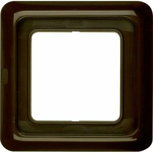 Berker IP44 Ramka pojedyncza z uszczelką brązowy 132801, kolor brązowy