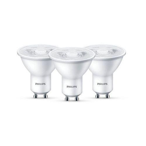 Philips Żarówka LED GU10 4,7W (50W) 345lm 230V barwa ciepła 61304 (3szt)