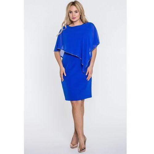 a1d5e82bed Niebieska sukienka z szyfonową górą - Semper