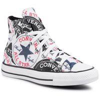 Converse Trampki - ctas hi 166985c black/multi/white