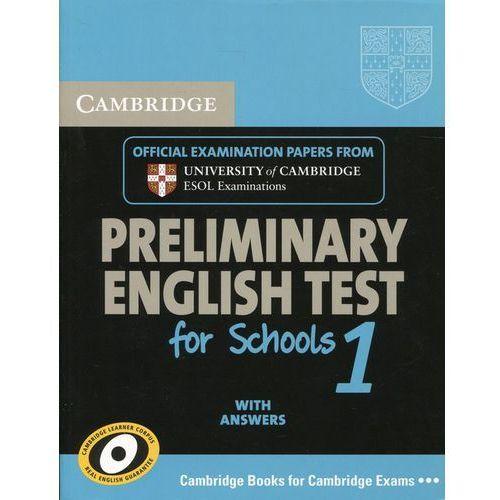 Cambridge PET for Schools 1 Student's Book with Answers, oprawa miękka