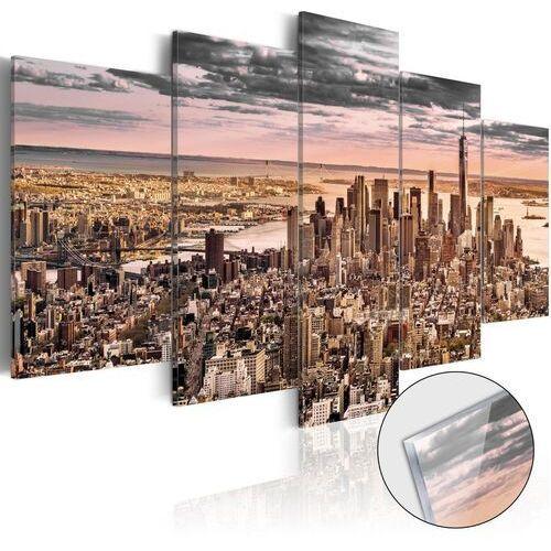 Obraz na szkle akrylowym - nowy jork: poranne niebo [glass] marki Artgeist