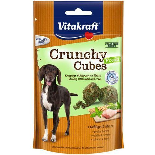 Vitakraft Crunchy Cubes FRESH Chrupiący przysmak dla psa z drobiem i olejkiem miętowym 140g