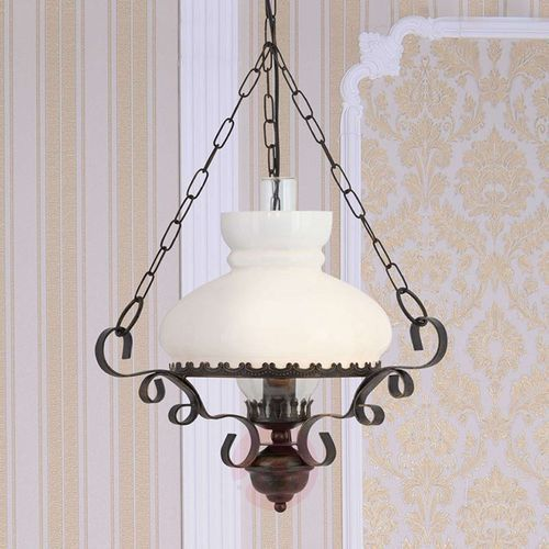 Searchlight Oil lantern - lampa wisząca o antycznym uroku (5013874148995)