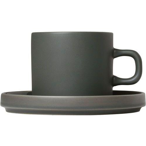 Blomus Filiżanki do kawy ze spodkami mio agave green, 2 zestawy (b63909) (4008832773426)