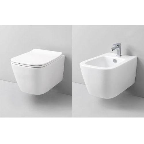 Swiss liniger Misa wc oraz bidet ivetta z serii rimless