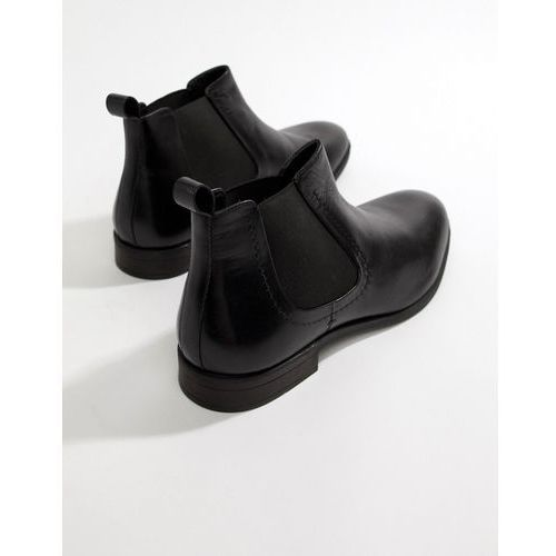 Pier one chelsea boots in black leather - black