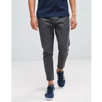 cropped chino in tapered fit - grey, Only & sons
