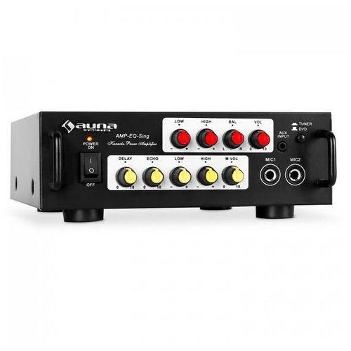 Auna cd708 wzmacniacz karaoke hifi 400w pa equalizer