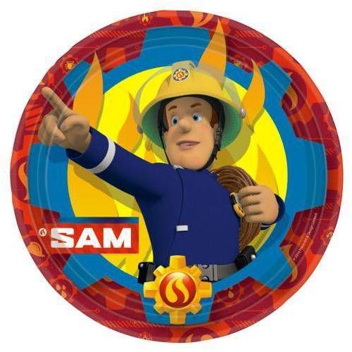 Talerzyki urodzinowe strażak sam - 23 cm - 8 szt. marki Amscan