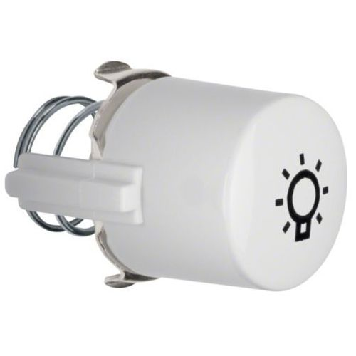 BERKER Serie 1930/Glas Przycisk do łącznika i sygnalizatora E10 z symbolem światła, biały 1226 z kategorii Włączniki