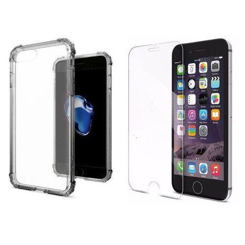 Zestaw   Spigen SGP Crystal Shell Dark Crystal   Obudowa + Szkło ochronne Perfect Glass dla modelu Apple iPhone 7 Plus