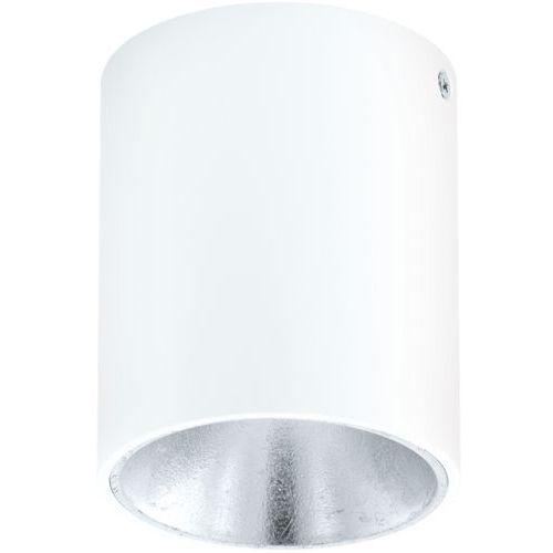 Downlight LAMPA sufitowa POLASSO 94504 Eglo plafon OPRAWA natynkowa LED 3W IP20 okrągła tuba biała, 94504