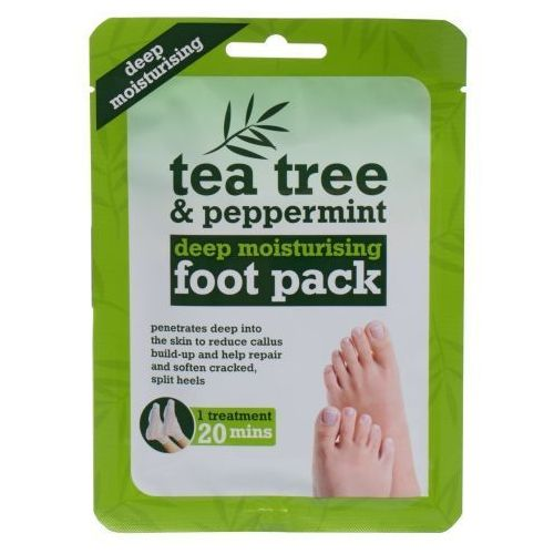 Xpel Tea Tree & Peppermint Deep Moisturising Foot Pack 1szt W Maseczka do stóp