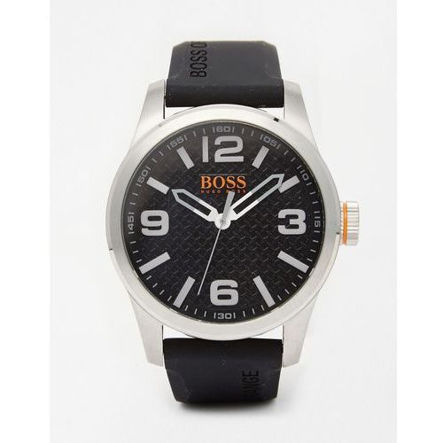 1513350 by hugo boss paris watch with black silicone strap - black marki Boss orange