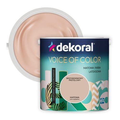 Farba voice of color brzoskwiniowy pastelowy 2,5 l marki Dekoral