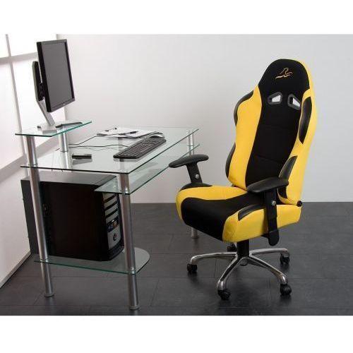 Żółty sportowy kubełkowy fotel biurowy obrotowy - żółty marki Makstor.pl