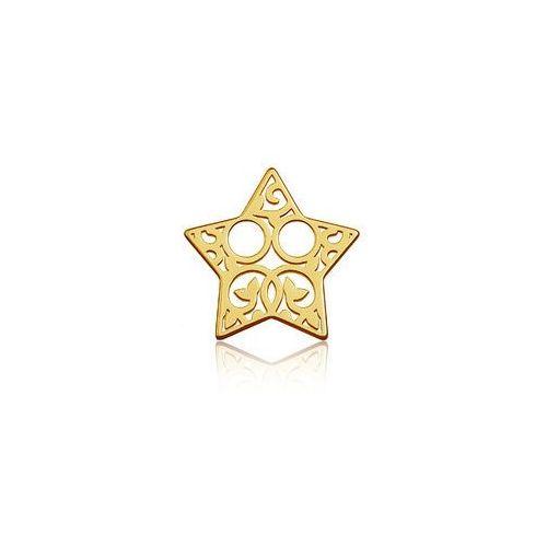 Blaszka Celebrytka Gwiazdka - ażurowa, złoto próby 585