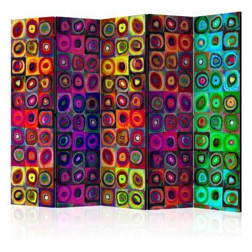 Parawan 5-częściowy - kolorowy abstrakcjonizm ii [room dividers] marki Artgeist