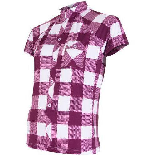 Sensor damska koszulka rowerowa cyklo square purple