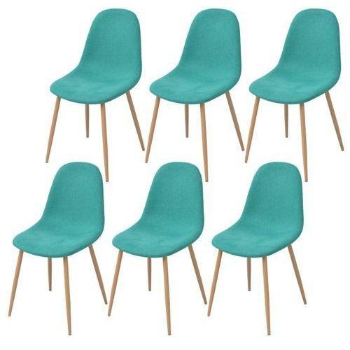 Krzesło do jadalni 6 szt., tkanina, zielona, kolor zielony