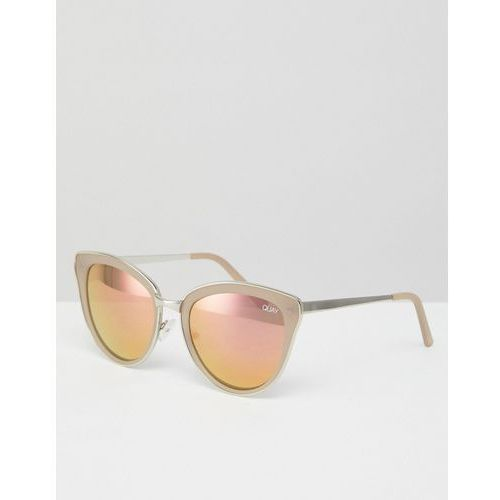 every little thing cat eye sunglasses with pink tinted lens - silver marki Quay australia