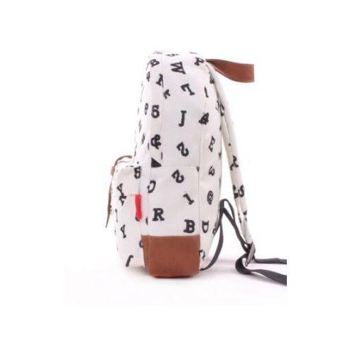candide Kidzroom Plecak Black and White Cyfry, biały (8712645248199)
