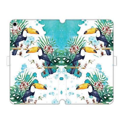 Apple ipad pro 11 - etui na tablet wallet book fantastic - tukany z kwiatami marki Etuo wallet book fantastic
