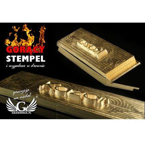 Grawernia.pl - grawerowanie i wycinanie laserem Stempel do wyciskania logotypu na gorąco i zimno - wymiary matrycy: 118x30mm - cnc