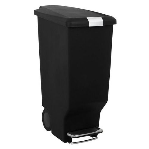 Simplehuman - kosz na śmieci 25l pedałowy slim - czarny