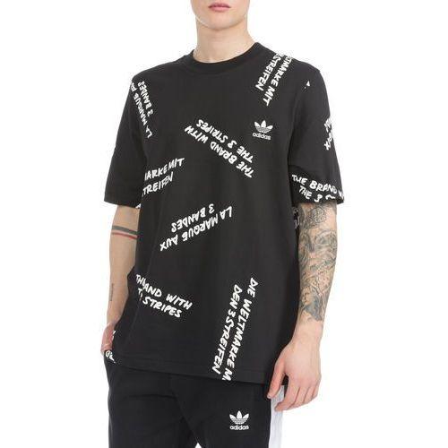 nyc graffiti print koszulka czarny m marki Adidas originals