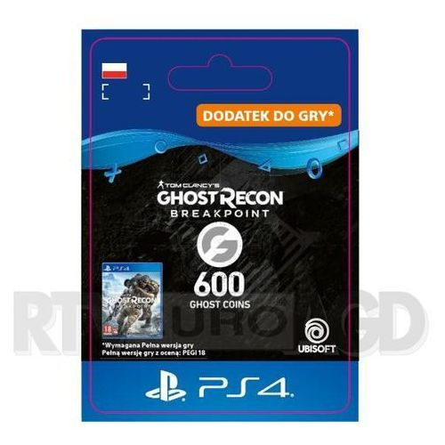 Sony Tom clancy's ghost recon: breakpoint 600 ghost coins [kod aktywacyjny] ps4