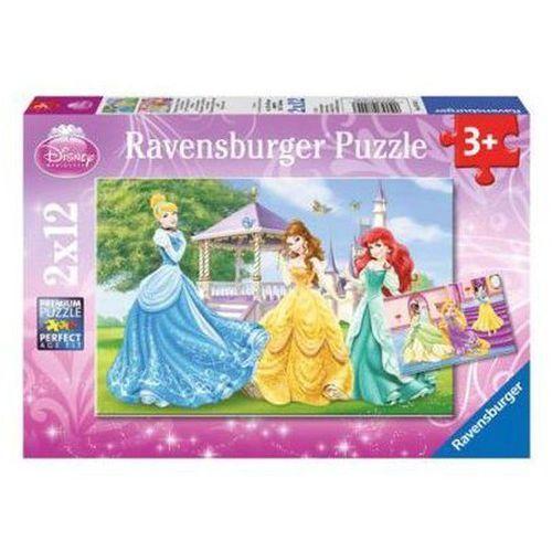 Puzzle Disney Księżniczki w ogrodzie 2X12 - Ravensburger