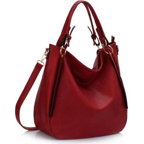 Wielka brytania Czerwona torebka damska worek hobo - czerwony