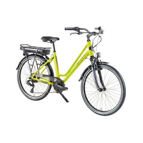 """Miejski rower elektryczny 26122 - model 2018, żółty, 18"""" marki Devron"""