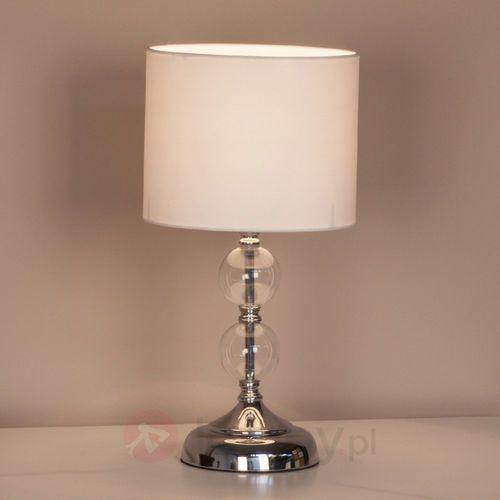 Lampa stołowa Rom Brilliant 94861/05, E27, 1 x 60 W, 230 V, (ØxW) 20 cmx38 cm, chrom, biały