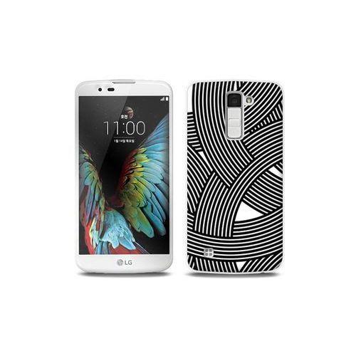LG K10 - etui na telefon Full Body Slim Fantastic - biało-czarna mozaika