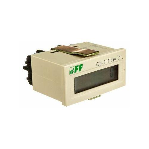 F&f filipowski sp.j. Licznik impulsów 4-30v dc 8 znaków cyfrowy tablicowy 48x24mm cli-11t-24v (5908312591856)