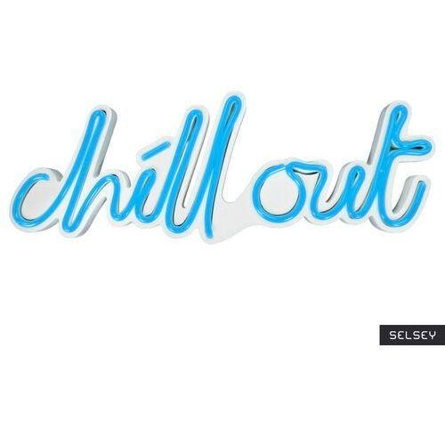 Selsey neon na ścianę letely z napisem chill out niebieski (5903025616735)